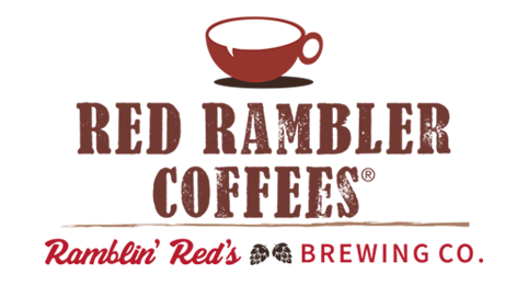 Red Rambler Coffees and Ramblin Red's Brewing Logo